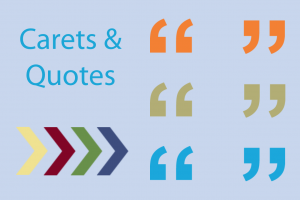 Download Carets and Quotes
